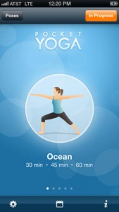 De app Pocket Yoga